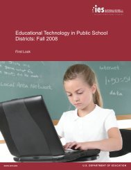 Educational Technology in Public Schools Districts: Fall 2008, First ...