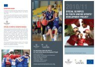 special olympics eu youth unified sports® development project