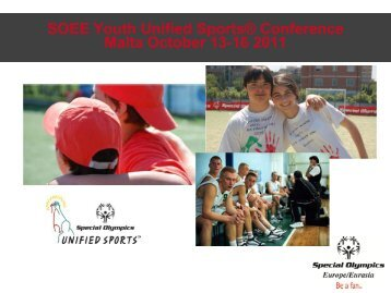 Here is a title page - Special Olympics