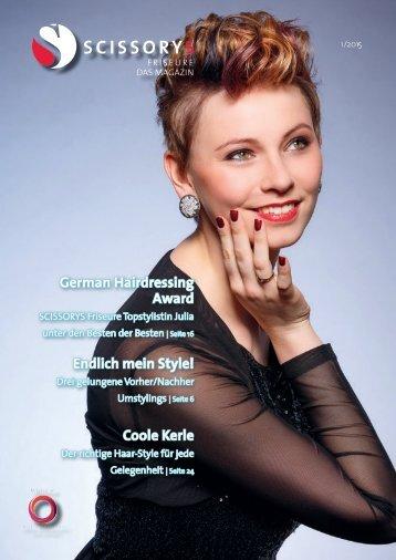 SCISSORYS Friseure Das Magazin 1/15