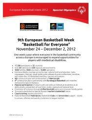 November 24 – December 2, 2012 - Special Olympics