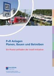 Leitfaden P+R Anlagen - Planen, Bauen und Betreiben - MVV