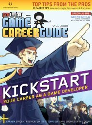 Game Careers Guide 2009 - Design1Online.com, LLC