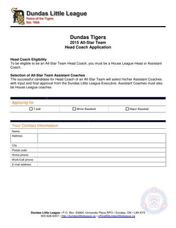 Dundas Tigers - Dundas Little League