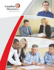 CDL Brochure - Canadian Discovery Ltd.