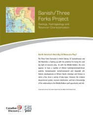 Sanish/Three Forks Project Brochure - Canadian Discovery Ltd.
