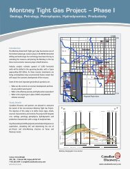 Montney Tight Gas Project - Phase I - MTGP - Canadian Discovery Ltd.