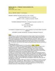 Perfect 10, Inc., v. Talisman Communications Inc. - Mark Roesler