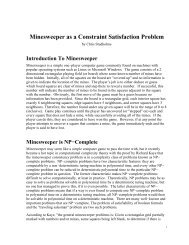 Minesweeper as a Constraint Satisfaction Problem