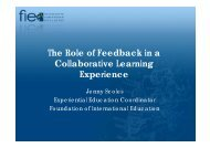 The Role of Feedback in a Collaborative Learning Experience
