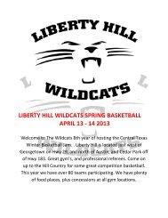 liberty hill wildcats spring basketball april 13 - 14 2013 - MAYB