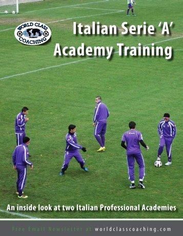 Italian Serie 'A' Academy Training - Mount Laurel United Soccer ...