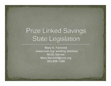 Prize-Linked Savings State Legislation - D2D Fund