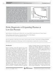 Probe Diagnostics of Expanding Plasmas at Low Gas Pressure