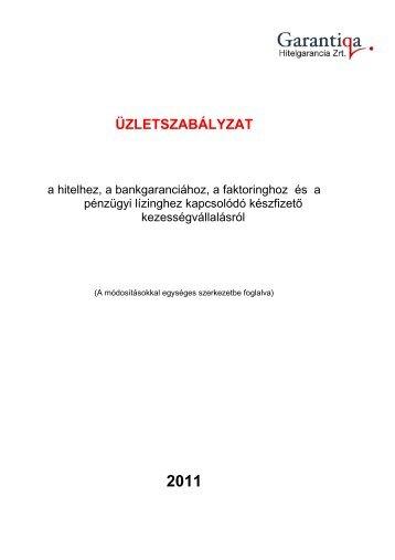 zletszab viszgar 0620 - Garantiqa - Hitelgarancia Zrt.