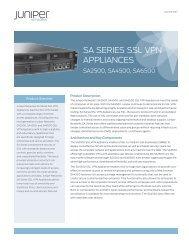 SA Series SSL VPN Appliances - Starnet Data Design, Inc