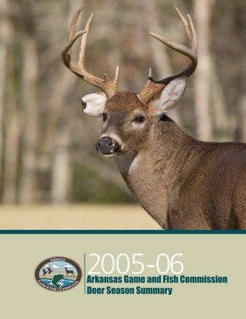 2005-06 Deer Report - Arkansas Game and Fish Commission