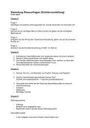 Auswertung Vorschlag Klausurfragen 2008
