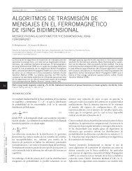 algoritmos de trasmisión de mensajes en el ferromagnético de ising ...