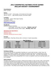 2012 shoprite® nutmeg state games roller hockey tournament