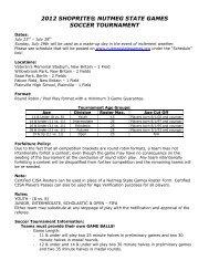 2012 shoprite® nutmeg state games soccer tournament