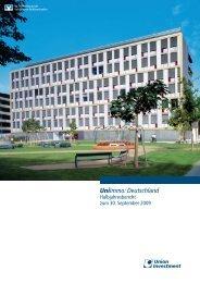 UniImmo: Deutschland - Halbjahresbericht zum ... - Union Investment