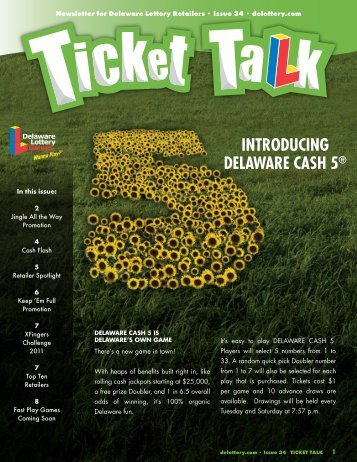 IntroducIng dELAWArE cASH 5® - The Delaware Lottery