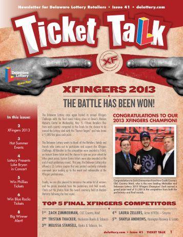 xfingers 2013 - The Delaware Lottery