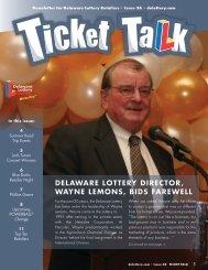 delaware lottery director, wayne lemons, bids farewell