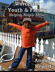 Annual Reports - Worcester Youth and Family Counseling Services