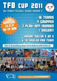HallenfuSSball der extraklaSSe - KiCKERWorld Berlin