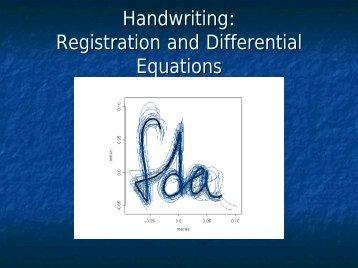 Handwriting: Registration