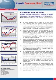 Kuwait Economic Brief Consumer Price Inflation - National Bank of ...