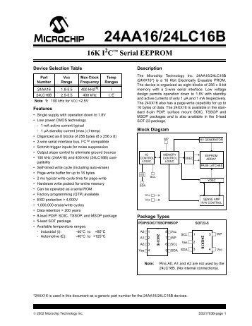 16K I2C Serial EEPROM - Hobby Engineering
