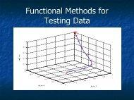Functional Methods for Testing Data