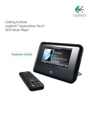 Getting to know Logitech® Squeezebox Touch Wi-Fi Music Player