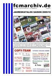 Jahreskatalog Programmhefte 2009/10