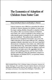 The Economics of Adoption of Children from Foster Care
