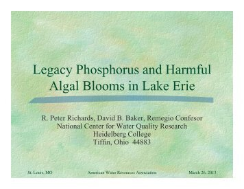 Legacy Phosphorus and Harmful Algal Blooms in Lake Erie