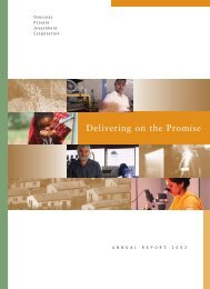 Annual Report - Overseas Private Investment Corporation