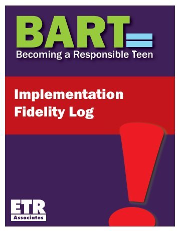 Implementation Fidelity Log - ETR Health Promotion - ETR Associates