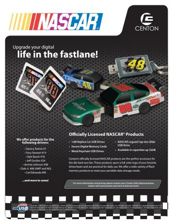 NASCAR Branded Products - Centon Electronics, Inc.