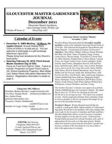 dec-newsletter-2011-gloucester-county-virginia Safety Committee Newsletter Template on minutes taking, arch bright, meeting schedule, meeting free, agenda form, accident investigation, commitment forms, meeting notes,