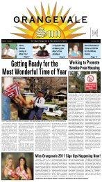 Volume 1 Issue 6 - December, 2010 - Orangevale Sun