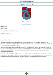 TRABZONSPOR - Global Scouting Unlimited