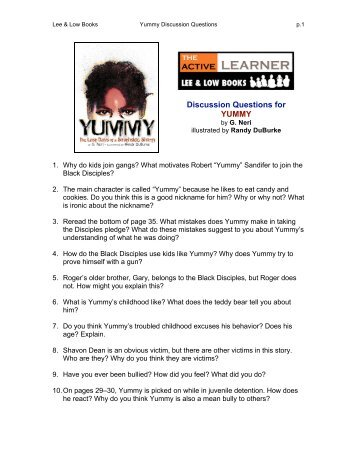 Discussion Questions for YUMMY - Lee & Low Books