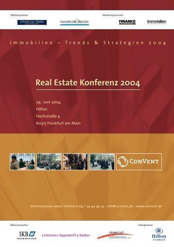 Real Estate Konferenz 2004 - Convent