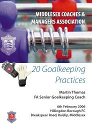 20 Goalkeeping Practices - Cowichan Valley Soccer Association