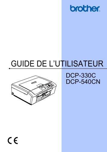 GUIDE DE L'UTILISATEUR - Brother