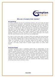 Solar True DC Explained - Crompton Controls
